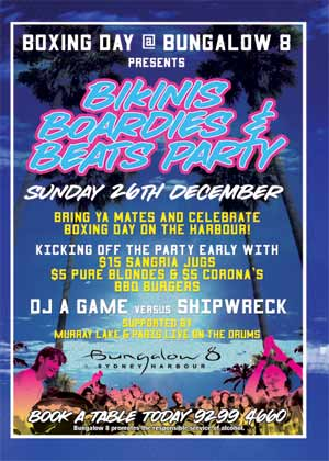 What's on in Sydney New South Wales - Bikinis Boardies & Beats Party