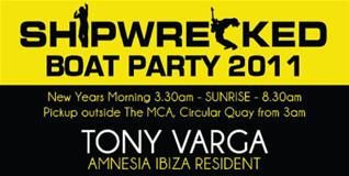 What's on in Sydney New South Wales - Shipwrecked Boat Party 2011
