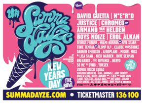 What's on in Melbourne Victoria - Summadayze New Year's Day