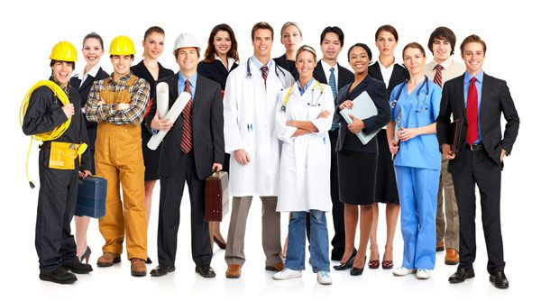 a group of skilled workers
