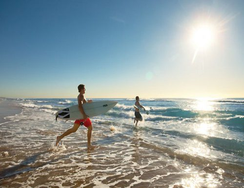 Two Men Surfing at The Gold Coast
