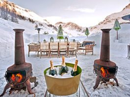 chalets for skiing in the french alps