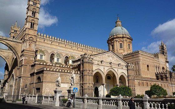 beautiful building in palermo in italy