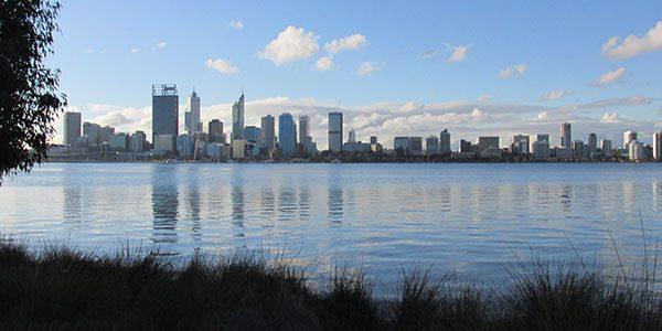 view of perth CBD from south perth