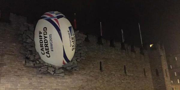 rugby ball cardiff castle