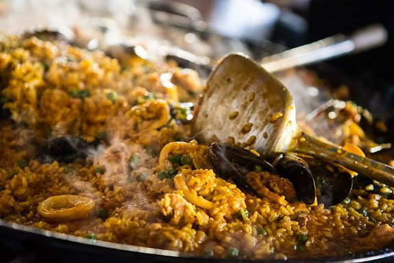 paella at south melbourne market