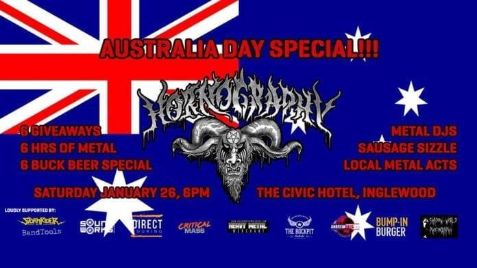Australia Day Special! Hornography Perth Metal Club Jan 26