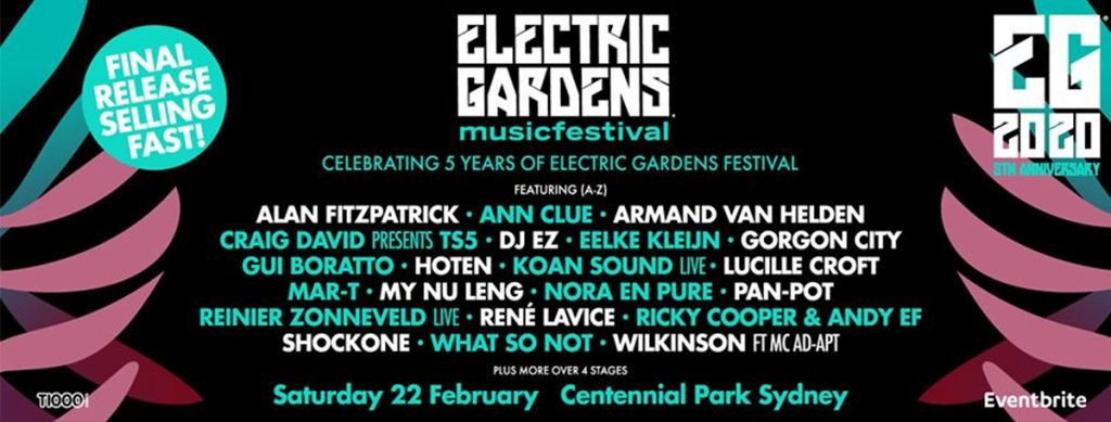Electric Gardens Sydney - 2020 LINEUP