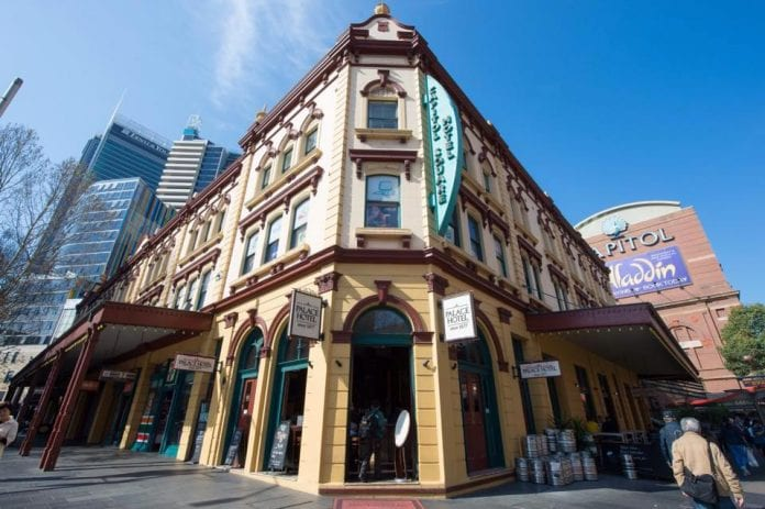 Palace hotel Sydney With 18 beers on tap plus bottled beer