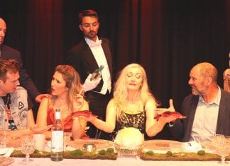 Written by Moira Buffini and directed by Virginia Moore Price, Dinner dishes out an evening from hell